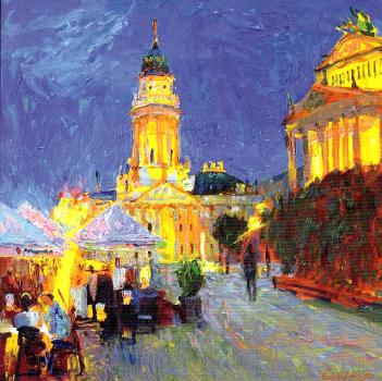 "Postkarte ""Berlin. Evening at the Gendarmenmarkt"""