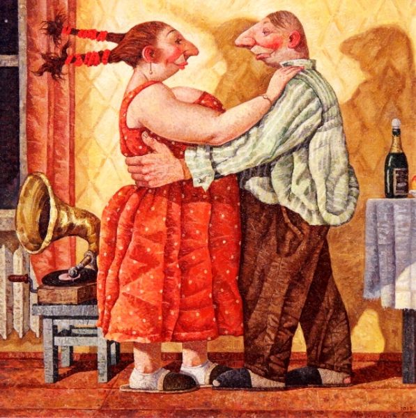 "Postcard  ""Who has the girl for dinner will also dance with her"""